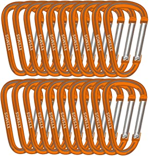 XYSMGS カラビナ Dリング Dカン アルミニウム合金 軽量 錆びにくい 高耐食 高耐摩耗 キャンプ アウトドア キーホルダー イベント 5/10個セット