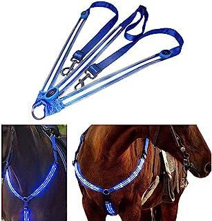 LED hästhjul, hästsele häst bröstrem robust och bekväm säkerhetsutrustning Bästa synligheten vid ridning för synlig häst