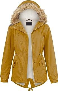LL Women's Casual Military Safari Anorak Jacket with Hoodie