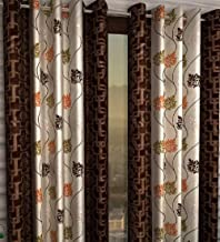 Honey Traders 1 Piece Eyelet Polyster Door Curtain - 7ft, Brown