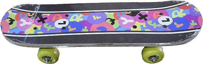 Joerex Mini Skateboard, Double Kick Skateboard By hirmoz, for Beginners PVC Wheel Plastic Frame, for Boys & Girls, Multipl...