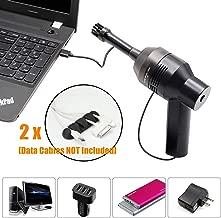 STARPIA USB Aspirador Teclado Mini Limpiador de Teclado con 2pcs Cable Clips, Aspirador Portátil de Alta Aspiración para Portátil Ordenador PC Escritorio Coche TV Muebles Juegos Computadoras Piano