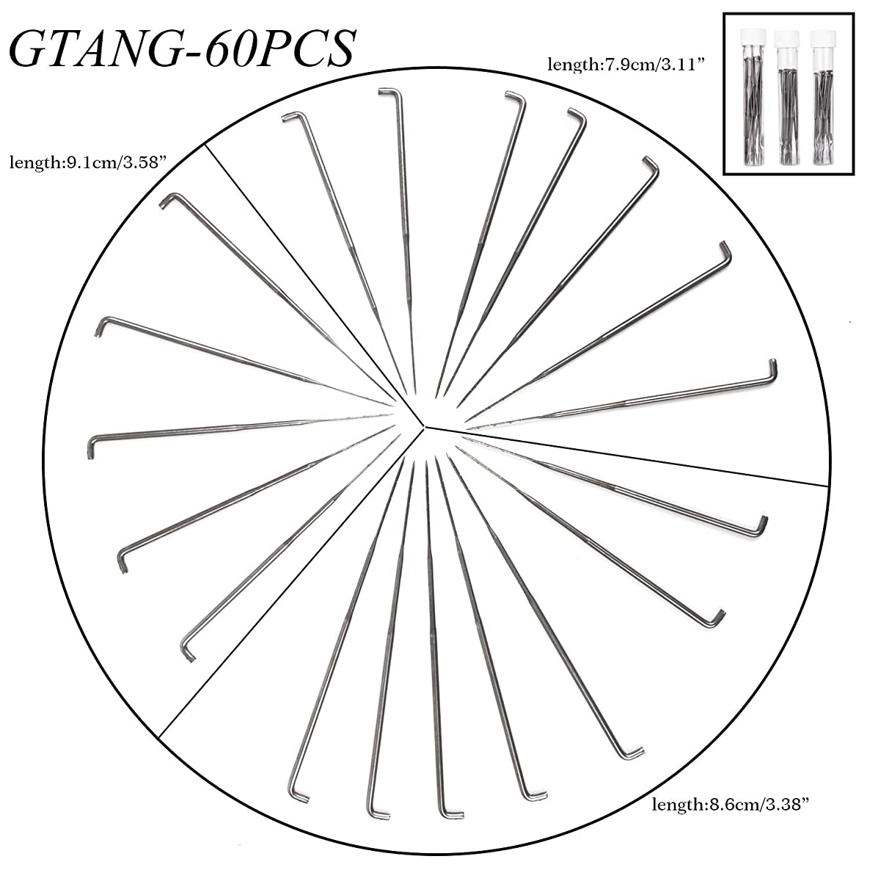GTANG Felting Needles DIY, Wool PIN Felting Tools Kits Medium-Each Sizes of 20PCS ( 60 Pieces 79mm 86mm 91mm)