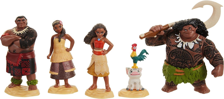 6pcs Figurine Moana Jeu de Poupée Set Figurine TOY Cake Topper Collection Kid Gifts