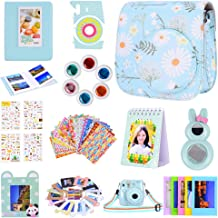 Amarcor Instax Mini 9 Camera Accessories Set for Fujifilm Instax Mini 9/ Mini 8/ Mini 8+ Camera,Includes Mini 9 Case/Albums/Six Color Filters/Selfie Lens/Camera Sticker (12 in 1 Chrysanthemum)