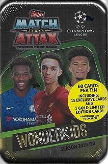 Match Attax 2019 2020 Topps UEFA Champions League Juego de Cartas de fútbol Selladas Mega Collector's Tins con Tarjetas de Oro y Inserciones exclusivas