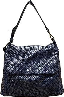 BZNA Bag Tarja blau Italy Designer Messenger Damen Handtasche Schultertasche Tasche Leder Shopper Neu