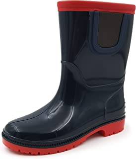 Amoji Kid Rain Boots Chelsea Rubber Boots (Toddler/Little Kid/Big Kid)