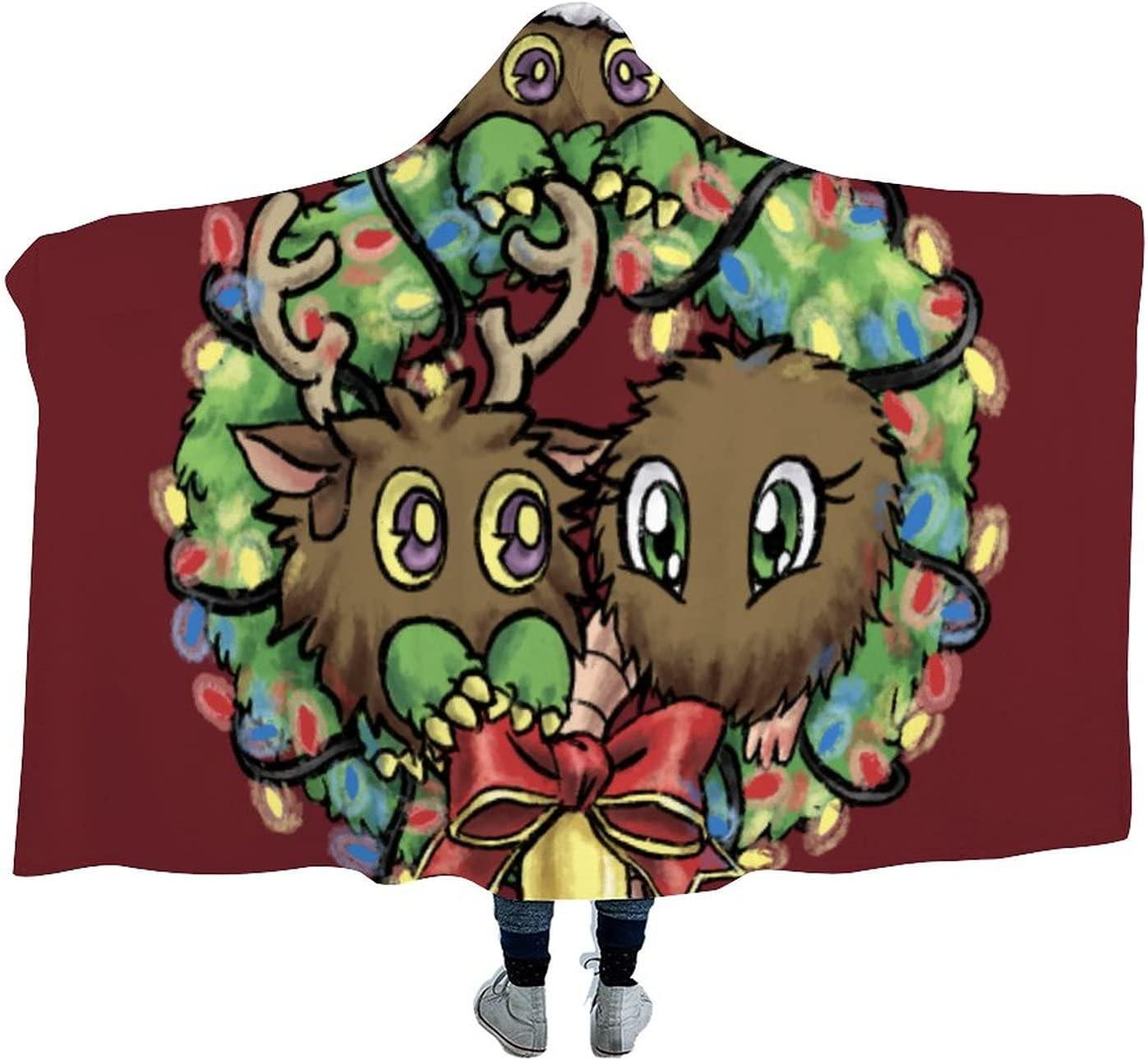 YuGiOh Hooded Fashion Blanket Anime Cloak Arctic Velvet excellence air-Condi