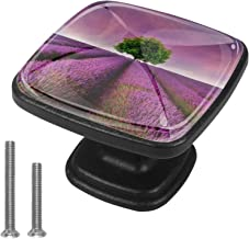 Vierkante deurknoppen - 4 stuks glazen ladeknoppen deurgrepen trekt met schroeven voor thuis keuken kantoor kast lade lave...