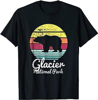 Sponsored Ad - Vintage Retro Glacier National Park, Montana Bear T Shirt