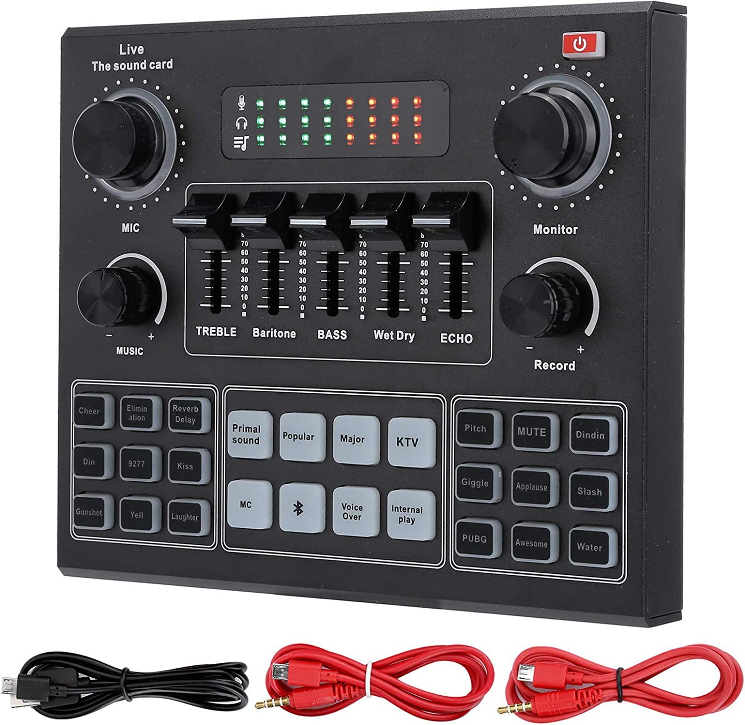 V9 Bluetooth Sound Card Stereo Audio Limited Special Price Mixer and Effects El Paso Mall Voic with
