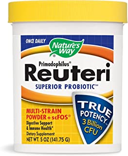 Nature's Way Once Daily Primadophilus Reuteri Superior Probiotic Multi Strain Powder with scFOS Digestive Support & Immune...