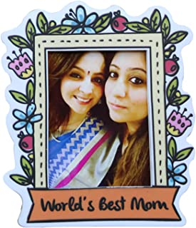 Oye Happy - Best Mom Personalised Magnet - Fridge Magnet for Mother / Mother-in-Law on Birthday / Anniversary