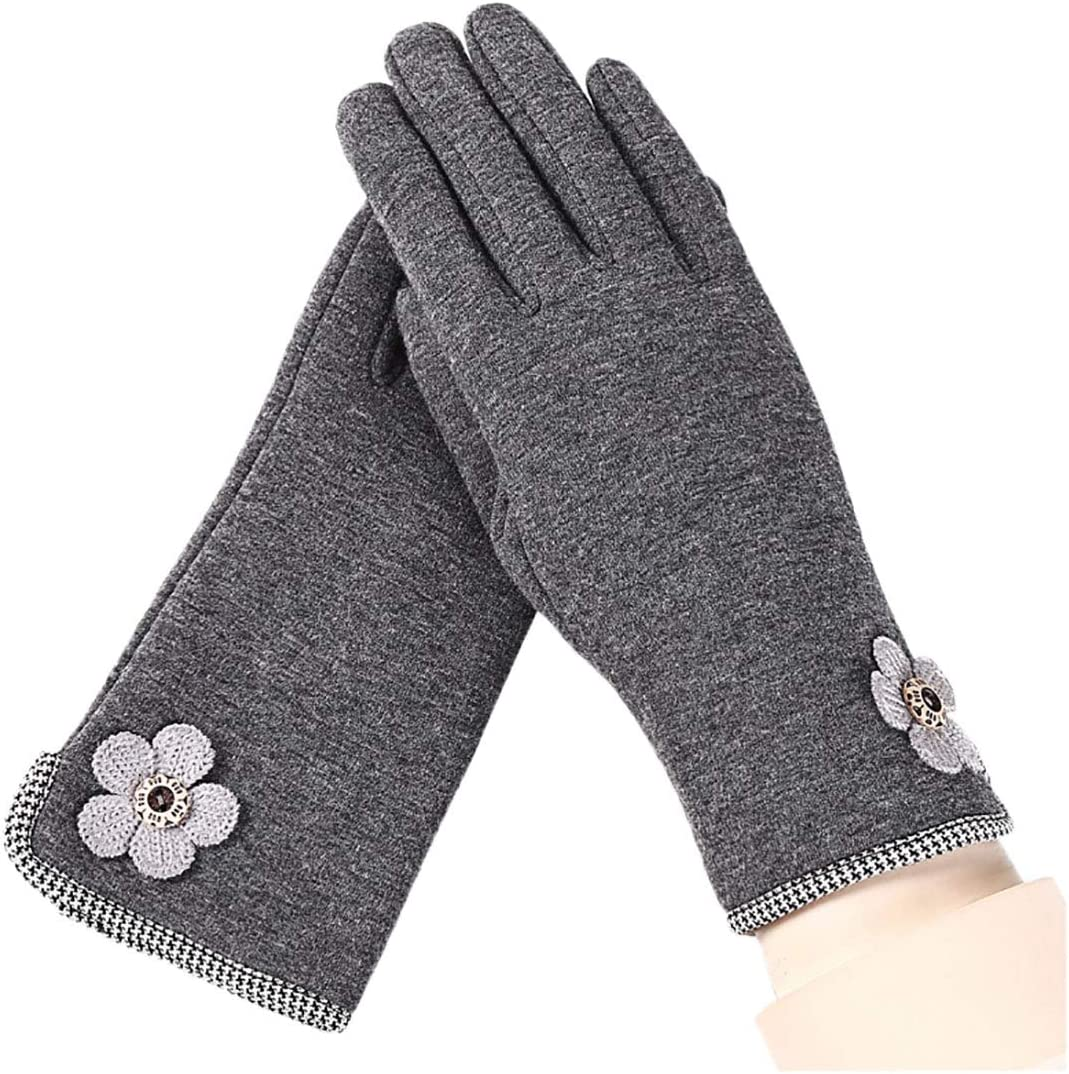 Macsen Women Touch Screen Gloves Winter Gloves Warm Finger Glove Elegant Gloves Sports Gloves for Motor, Cycling, Driving, Riding Outdoor Activities