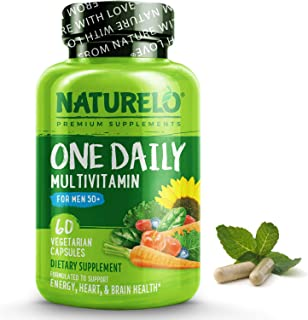 NATURELO One Daily Multivitamin for Men 50+ - with Whole Food Vitamins - Organic Extracts - Natural Supplement to Boost En...