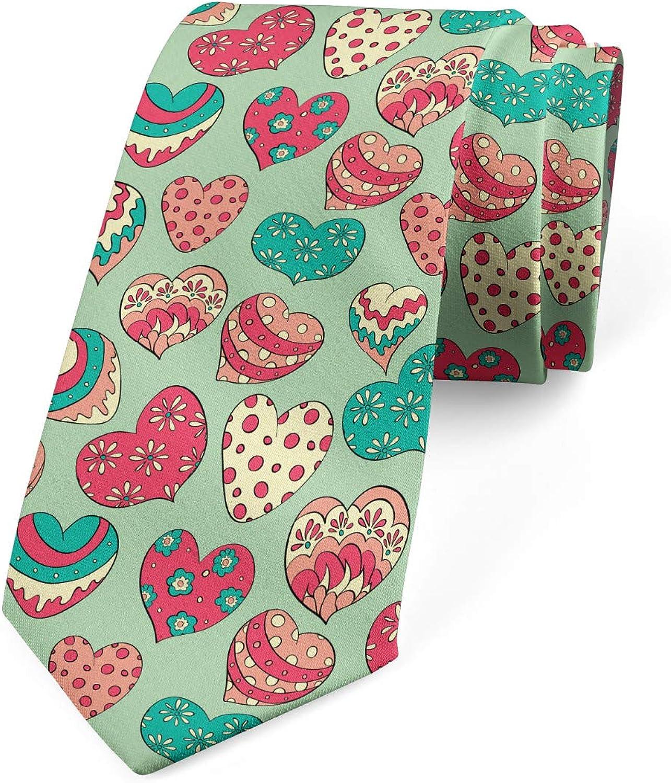 Ambesonne Necktie, Colorful Love Cheers, Dress Tie, 3.7