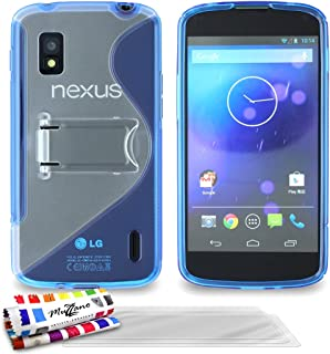 ' Muzzano 保护套适用于 Lg Nexus 4 蓝色3D屏保 Blue + 3 Screen Protectors