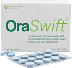 OraSwift Canker Sore Treatment and Mouth Ulcer Treatment – Effective for Mouth Ulcers, Cold Sores, Dry Mouth, Stomatitis, Gingivitis – All-Natural, Supports Fast Healing of Mucosal Lining in the Mouth