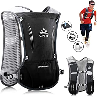 JHuuu Lightweight Running Hydration Backpack, 5L 190g Running Hydration Vest for Women and Men Cycling Running Climbing Hi...