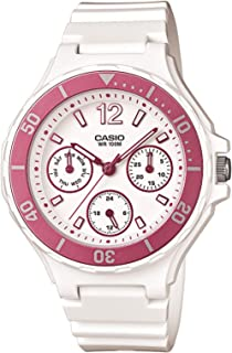 Casio Womens Quartz Watch, Analog Display and Plastic Strap LRW-250H-4A
