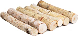 6 Pack Large White Birch Logs for Fireplace Unfinished Wood Crafts DIY Home Decorative Burning(Logs:2.4