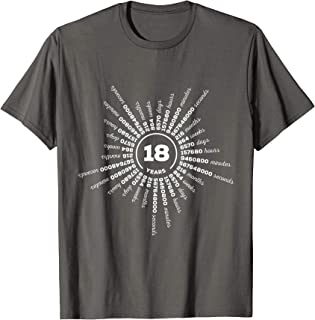 18 Years Porcelain Wedding Statement Clothing for Her or Him