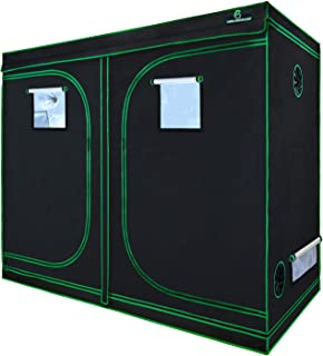 GA Grow Tent,94x48x80 Reflective Mylar Hydroponic Grow Tent with Observation Window and Waterproof Floor Tray for Indoor Plant Growing.4x8 (for 8 Plants)