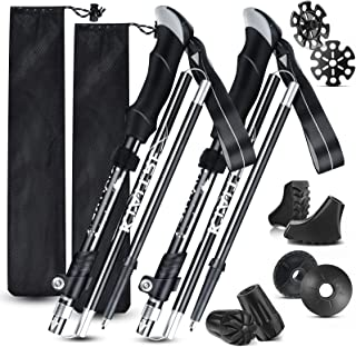 Kiaitre Trekking Poles for Hiking Collapsible – 2pc Pack...