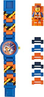 LEGO Watches and Clocks Boy's 'LEGO Movie 2 Emmet' Quartz Plastic Watch, Color:Blue (Model: 8021445)