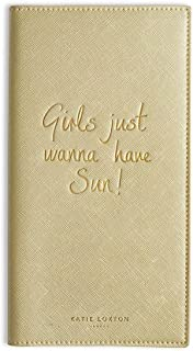 Katie Loxton - Travel Wallet - Girls Just Wanna Have Sun - Metallic Gold - 23x12cm