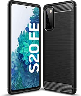Samsung Galaxy S20 FE Case, Ikwcase Carbon Fiber Skin Resilient TPU Shockproof Armor Protective Case Cover for Samsung Gal...