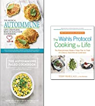 Wahls protocol cooking for life,paleo cookbook,medical autoimmune life changing rescue 3 books collection set