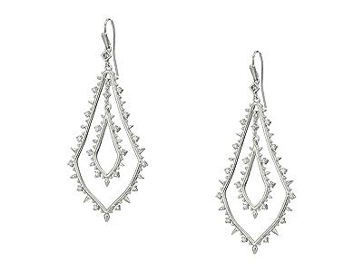 Kendra Scott Alice Earrings (Rhodium/White CZ) Earring
