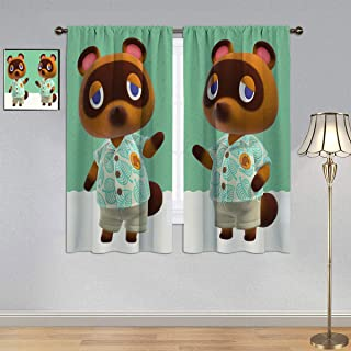 Thermal Insulated Printed Curtain Animal Crossing New Horizo