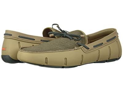 SWIMS Braided Lace Loafer (Timber Wolf/Green Gable) Men