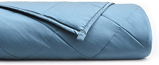 YnM Bamboo Weighted Blanket with 100% Pure Natural Bamboo Viscose | 20 lbs for 150-200 lbs Individual, 60