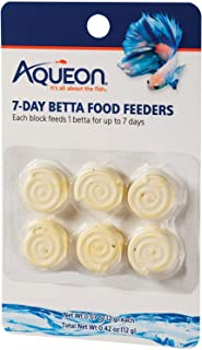 Aqueon Betta Food Feeder, 7-Day, 6-Pack