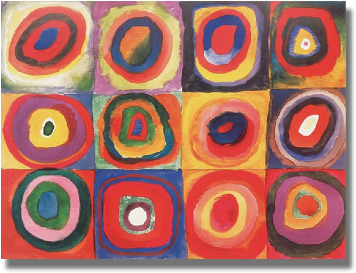 Modern Wassily Kandinsky Canvas Painting Milwaukee Mall Abstract Pos Red San Diego Mall Circle