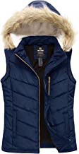 Wantdo Women's Thicken Vest Quilted Padding Puffer Vest with Lambswool Hood