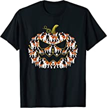 Halloween Costume Saint Bernard Dog Lover Dog Paws Pumpkin T-Shirt