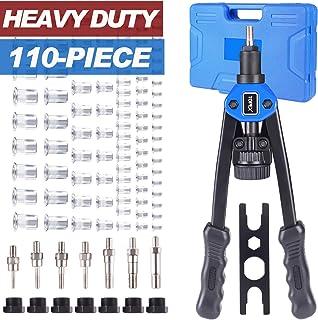110PCS Heavy Duty Nut Riveter Rivet Rivnut Nutsert Gun Riveting Kit Thread M3-12