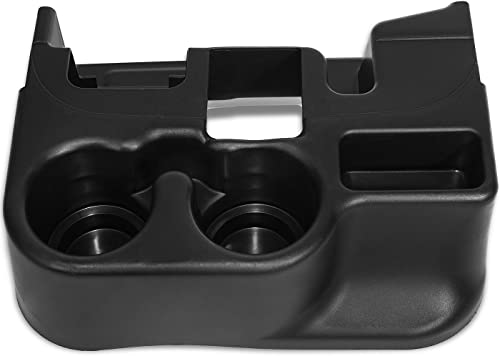 new arrival OxGord Center Console Cup online Holder Attachment Compatible with 2003-2012 new arrival Dodge Ram 1500 2500 3500 Vehicles - Black outlet sale