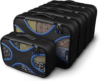 Shacke Pak - 5 Set Packing Cubes - Medium/Small ? Luggage Packing Travel Organizers (Black / Blue)