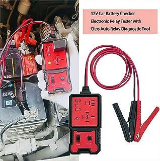 LUFFYLIVE Testador de relé automotivo de 12 V, ferramenta de verificação de bateria de diagnóstico de veículo com clipes j...