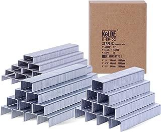 3500 Piece Light Duty Staples Kit, KeLDE Fastener Flat Crown Staples for Arrow JT21 / JT27 / Stanley TRA 200 / Rapid 53, Includes 1/4, 5/16, 3/8 Inch, 6, 8, 10 mm