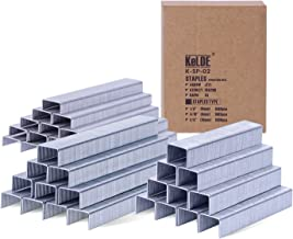 3500 Piece Light Duty Staples Kit, KeLDE Fastener Flat Crown Staples for Arrow JT21 / JT27 / Stanley TRA 200 / Rapid 53, Includes 1/4, 5/16, 3/8 Inch, 6, 8, 10 mm