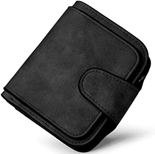 Elios Compact Soft PU Leather Ladies Small Pocket Wallet RFID Blocking | Credit Card Holder |Organizer |Purse |Wallet for Women and Girls with 6 Card Slots (Black)