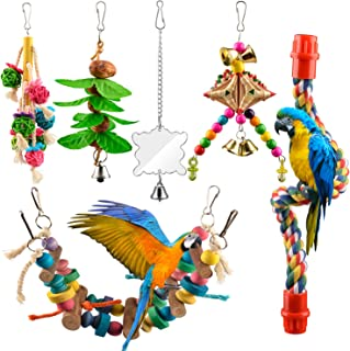 PET BIRD SQUISHIES LATEX SWING BELL TOY FUN ACTIVITY FOR CAGE SMALL TO MEDIUM