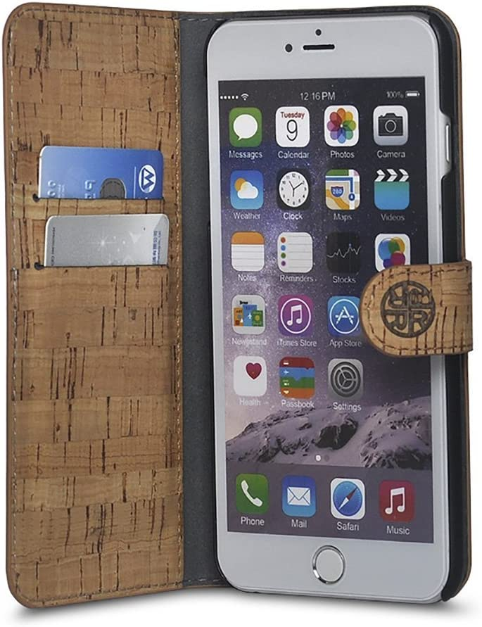 Cork Wood Wallet Max 87% OFF Case Compatible with iPhone - 6s Natural 6 New arrival